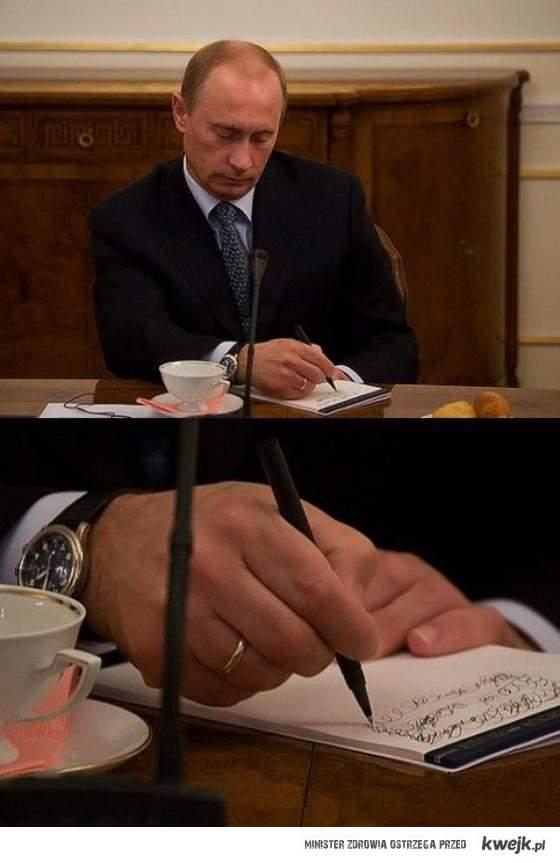 Bardzo istotne notatki Putina...