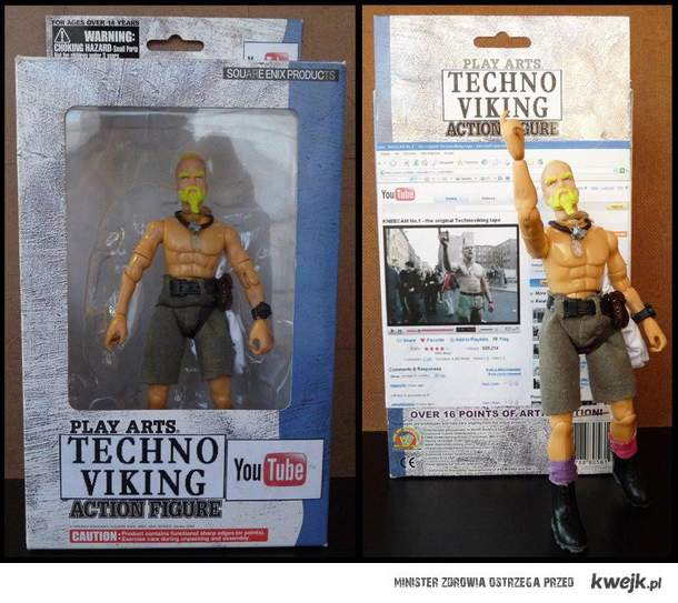 techno viking action figure