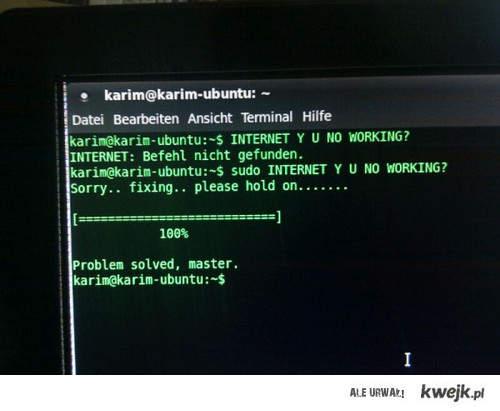 internet y u no working
