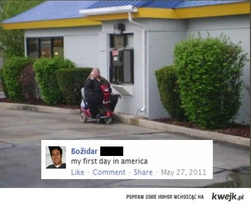 Pierwszy dzien w USA