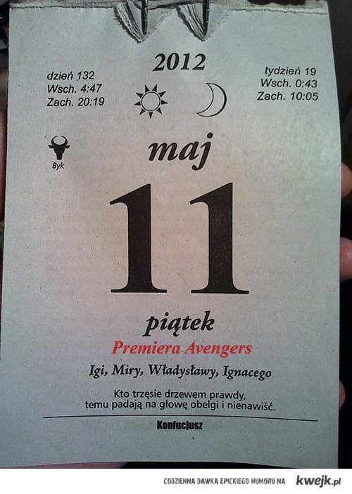 Premiera w kalendarzu