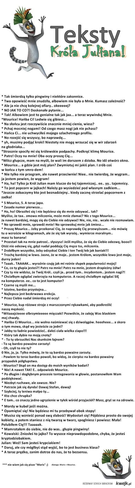 Teksty Króla Juliana.