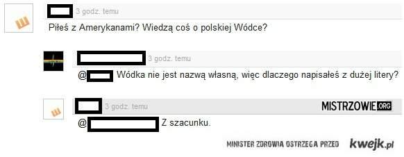 Wodka pisze sie z duzej