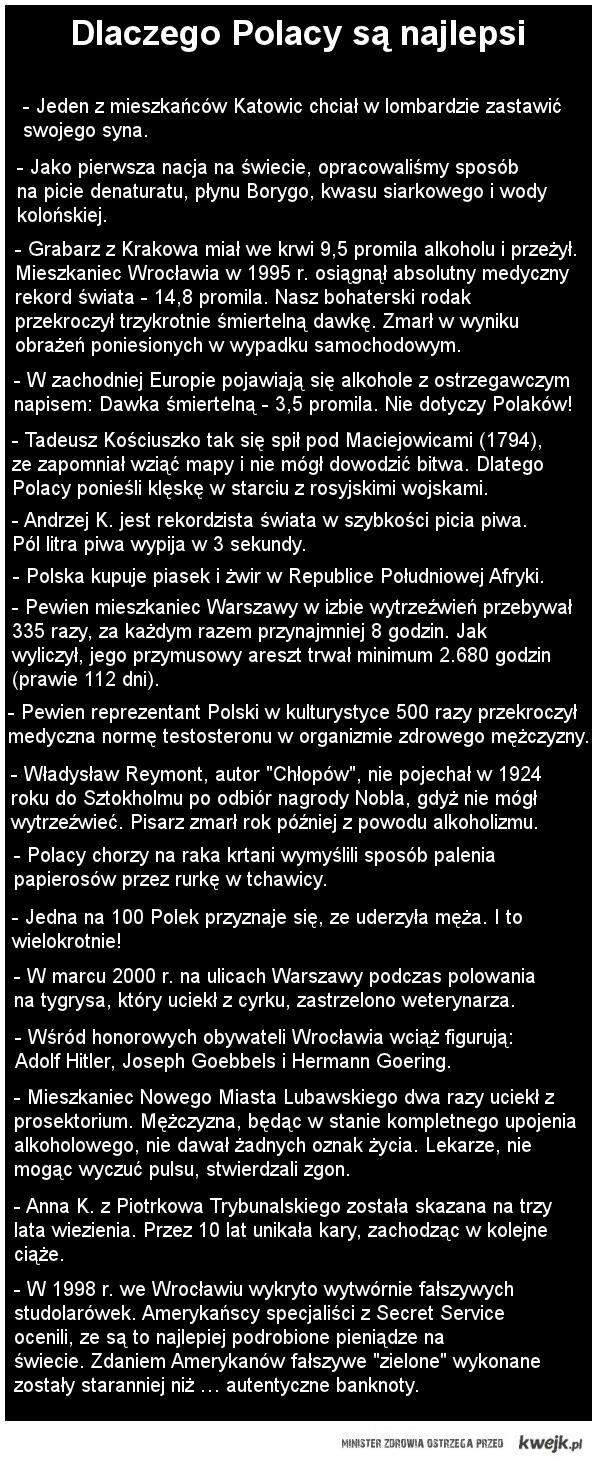 dlaczego Polacy są najlepsi.