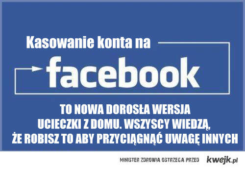 Kasowanie konta na facebook