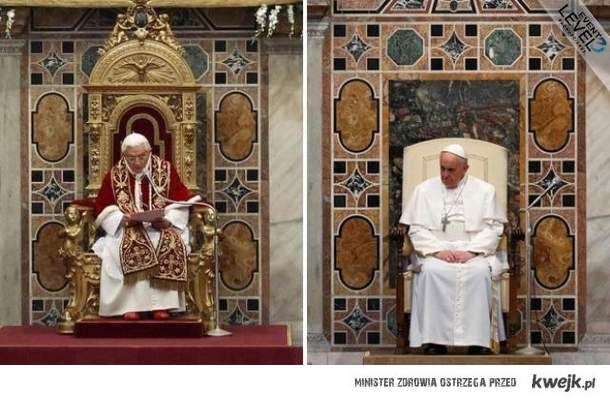 skromność papieża
