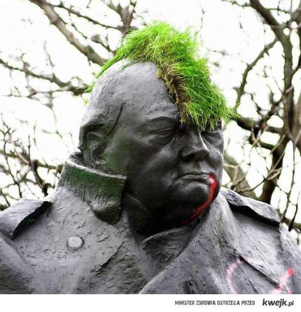 Churchill był punkiem