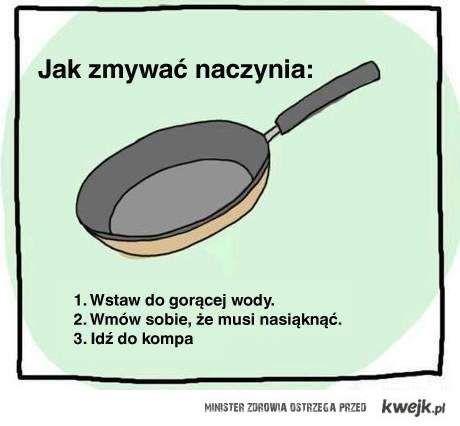 Jak zmywać naczynia