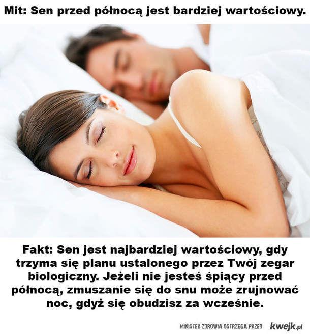 Mity i fakty na temat spania!