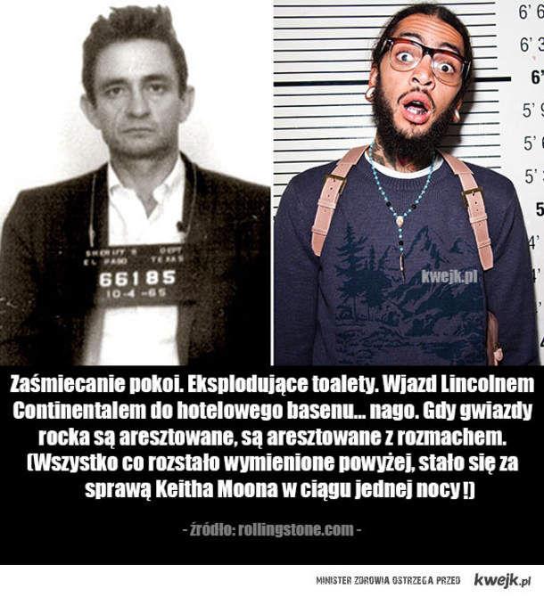 Najbardziej absurdalne przypadki aresztowań gwiazd rocka