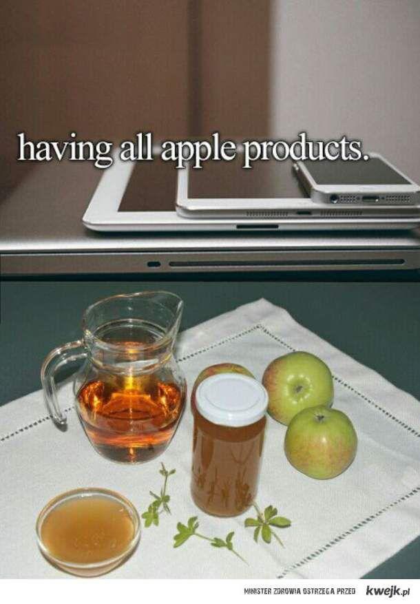 każdy ma swoje jabłuszko