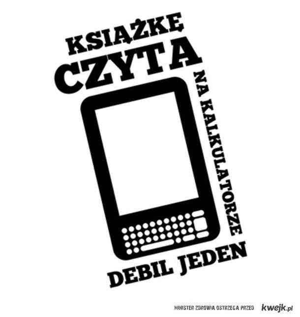 Książkę na kalkulatorze czyta