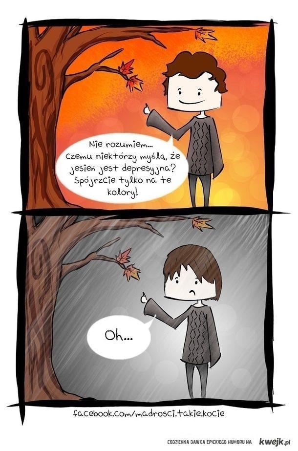 Dlaczego jesień jest depresyjna