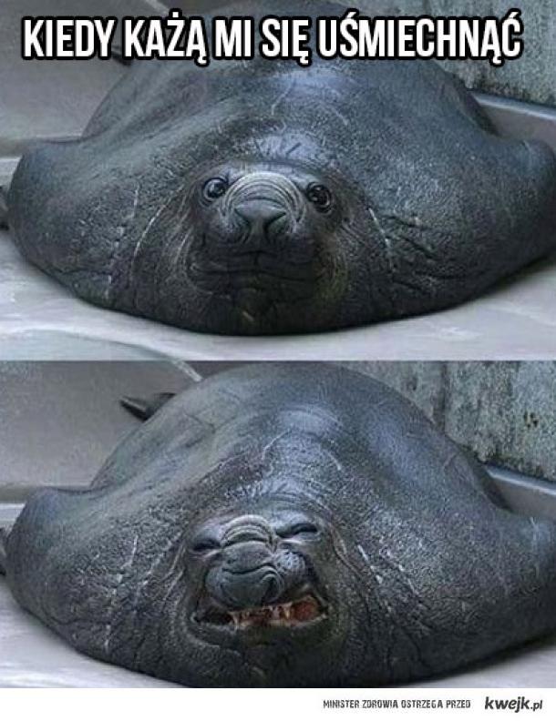 Kiedy każą mi się uśmiechnąć