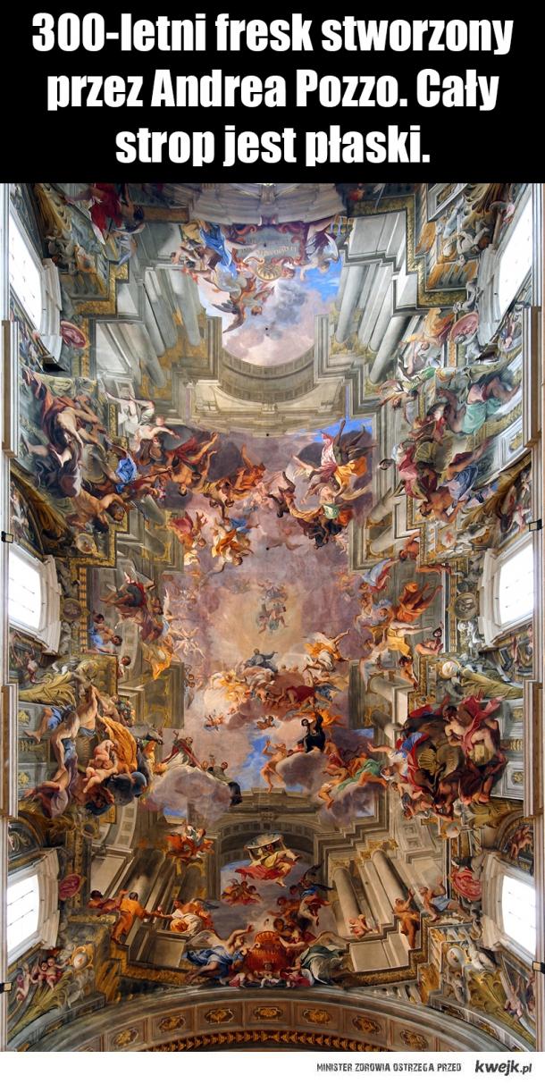Fresk stworzony przez Andrea Pozzo