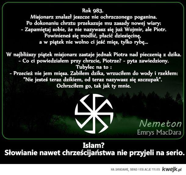 Słowianie nie boją się Islamu.