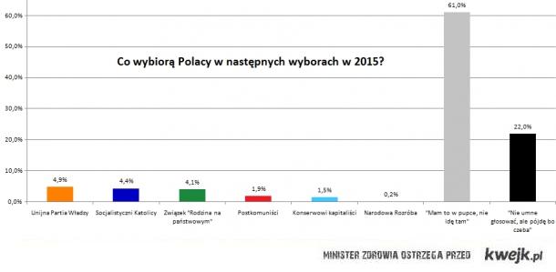 Co zdecydują Polacy w wyborach do Parlamentu w 2015?