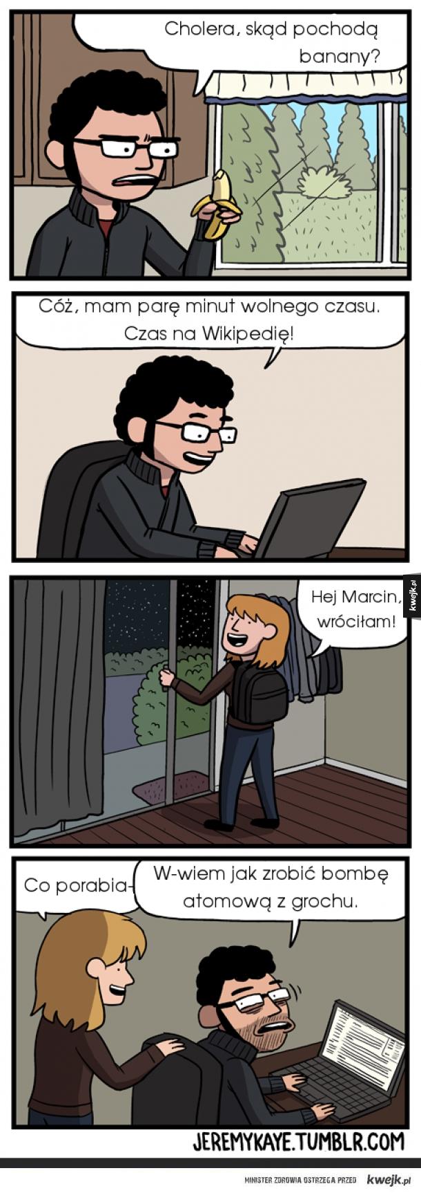 Kiedy chcesz się czegoś dowiedzieć z internetu