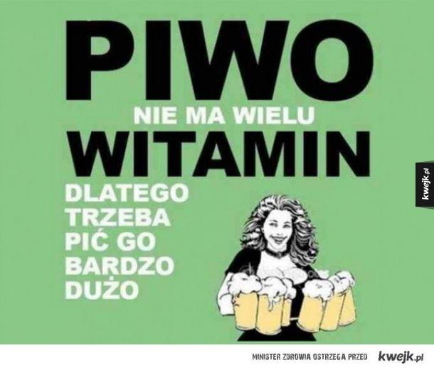 Piwo nie ma wielu witamin