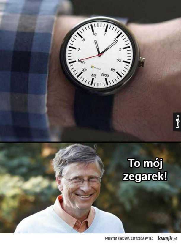 Zegarek autorstwa Billa Gatesa
