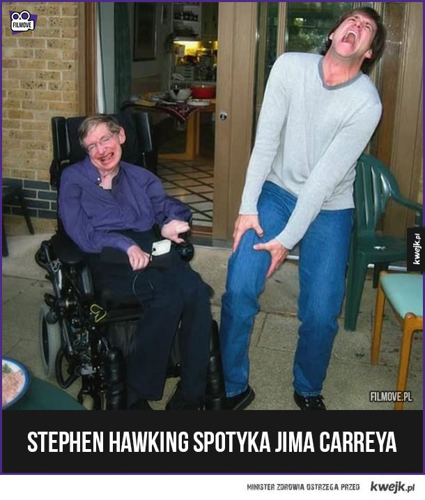 Stephen Hawking spotyka Jima Carreya