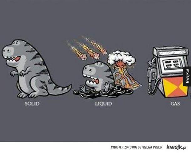 3 stany skupienia dinozaura