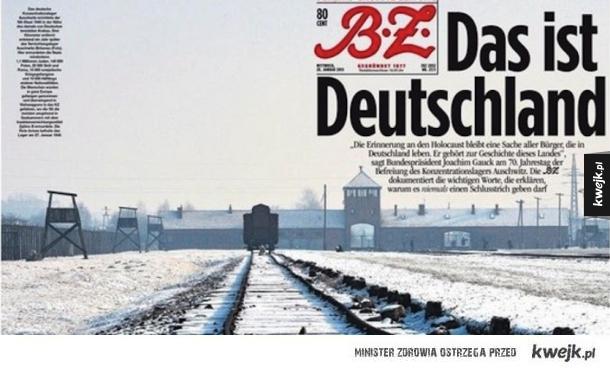 Okładka niemieckiego dziennika