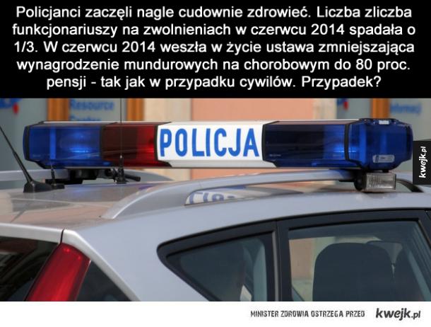 Cudowne ozdrowienia w Policji