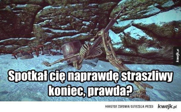 Szkielet ze Skyrim