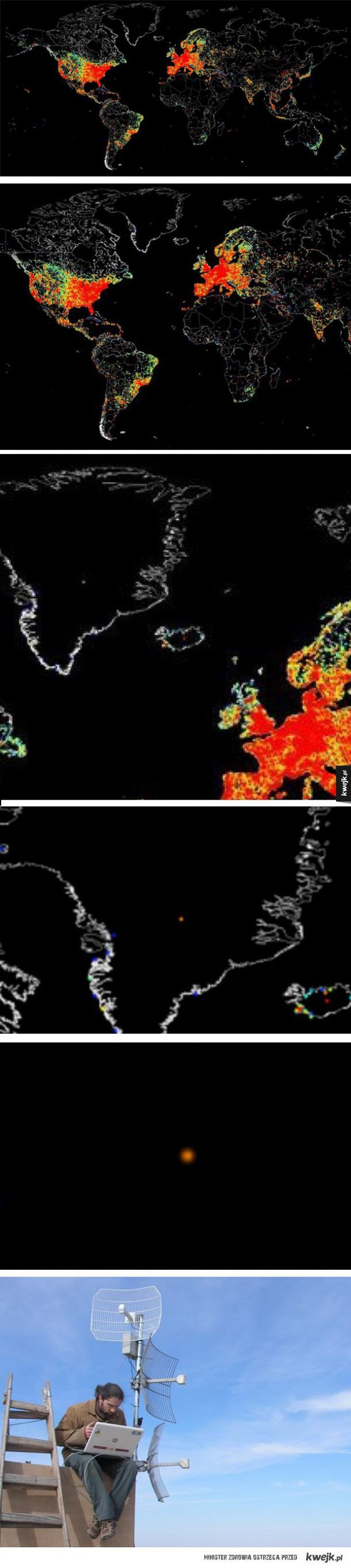 Globalna mapa korzystania z Internetu