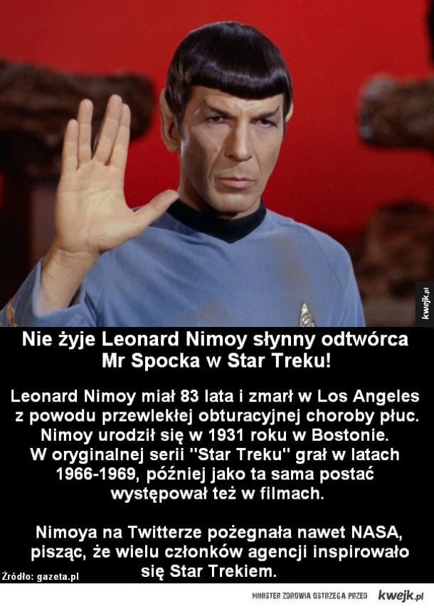 Nie żyje Leonard Nimoy!