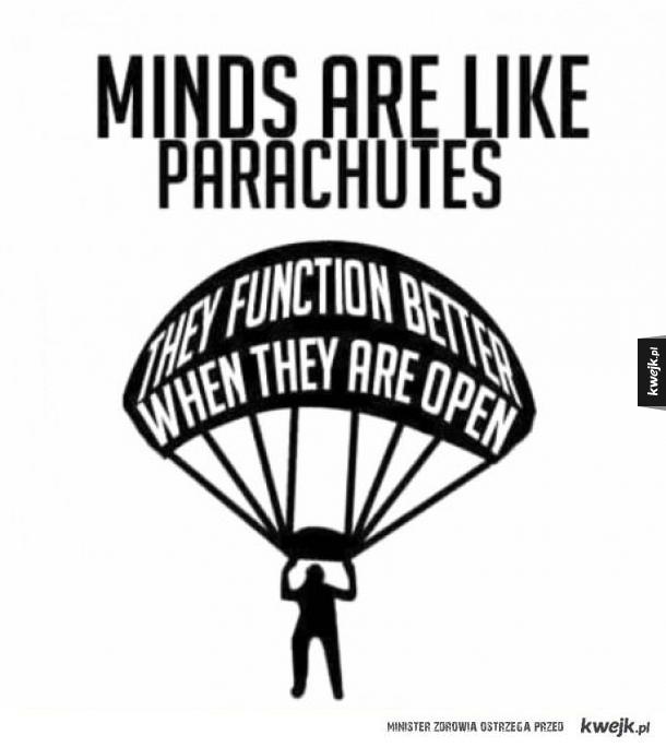 Umysł jest jak spadochron