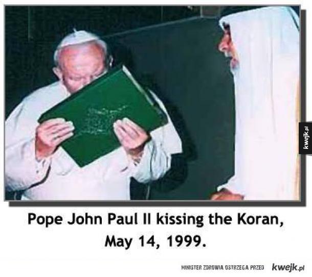 Jan paweł 2 papież całował kiedyś koran