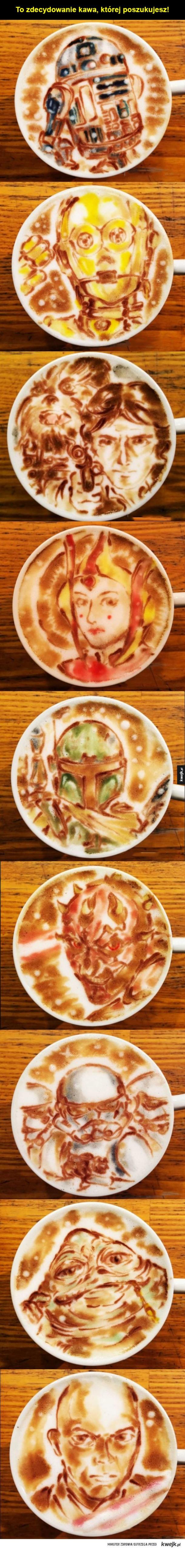 Latte art z Gwiezdnych Wojen
