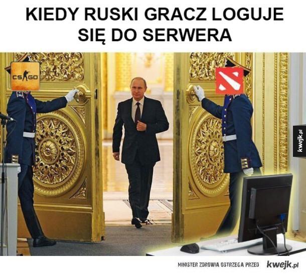 Putin wjeżdża na serwery