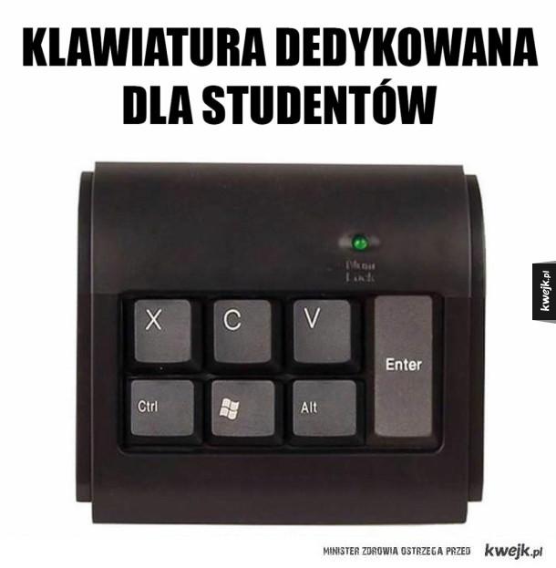 Studencka klawiatura