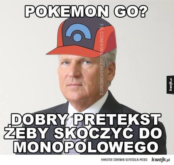 Aleksander Kwaśniewski - człowiek mem - Pokemon Go? dobry pretekst żeby skoczyć do monopolowego