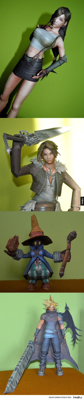 Modelarstwo kartonowe- Final Fantasy