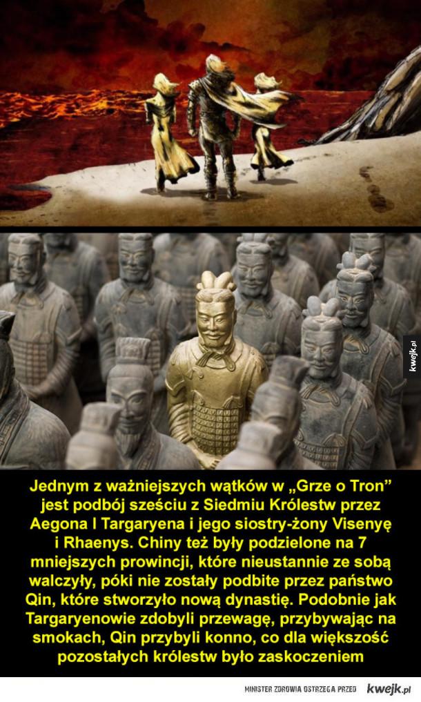 Podobieństwa między historią Chin a wydarzeniami z Gry o Tron