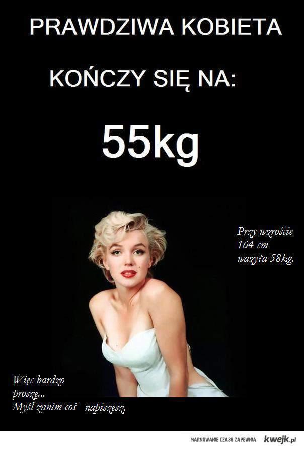 Zaprzeczenie twierdzeniu poprzednika, jakoby to kobiecość zależała od wagi.