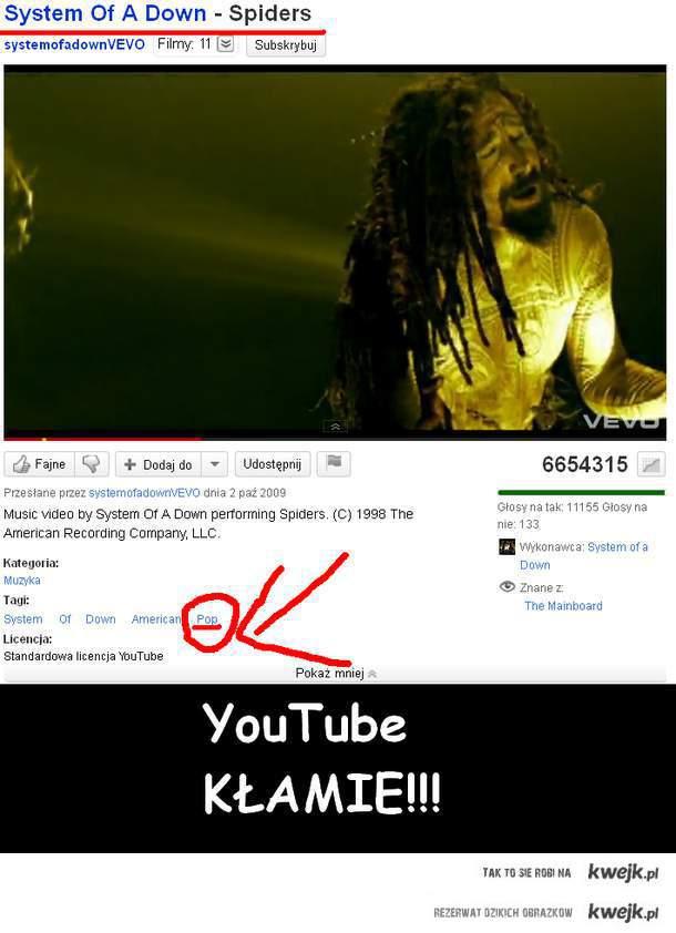YouTube KŁAMIE!!!