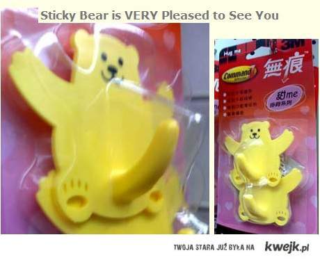 Sticky Bear is VERY Pleased to See You