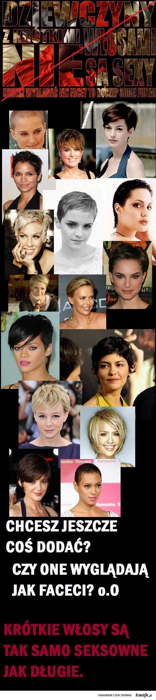 krótkie włosy rządzą!