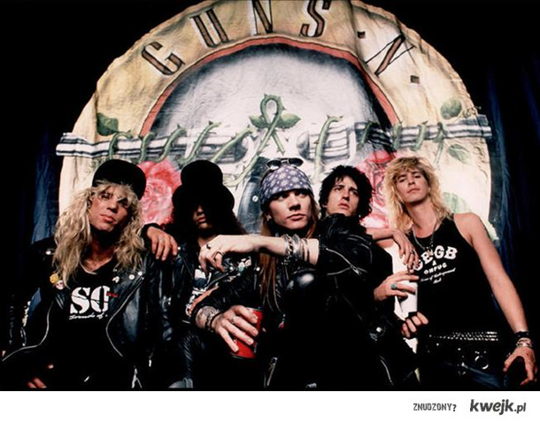Izzy, Steven, Duff, Slash, Axl - Guns N'Roses - to oni rozkurwiali system