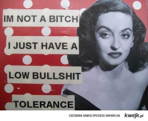 low tolerance