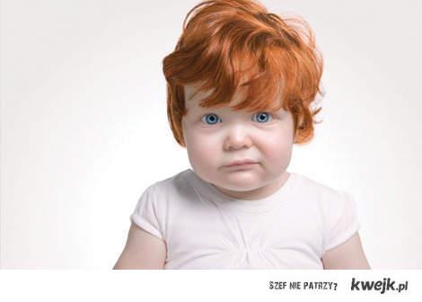redhead; DD