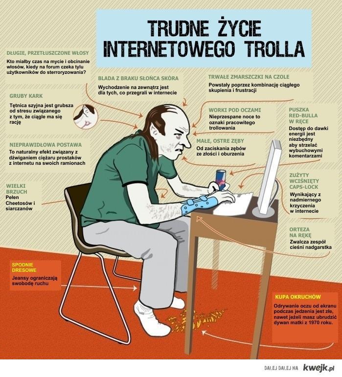 Trudne zycie internetowego trolla