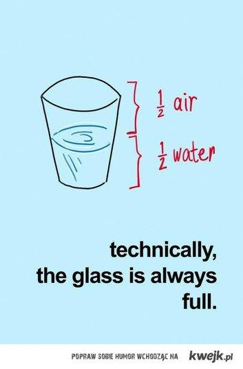 szklanka do połowy pełna czy pusta? ;)