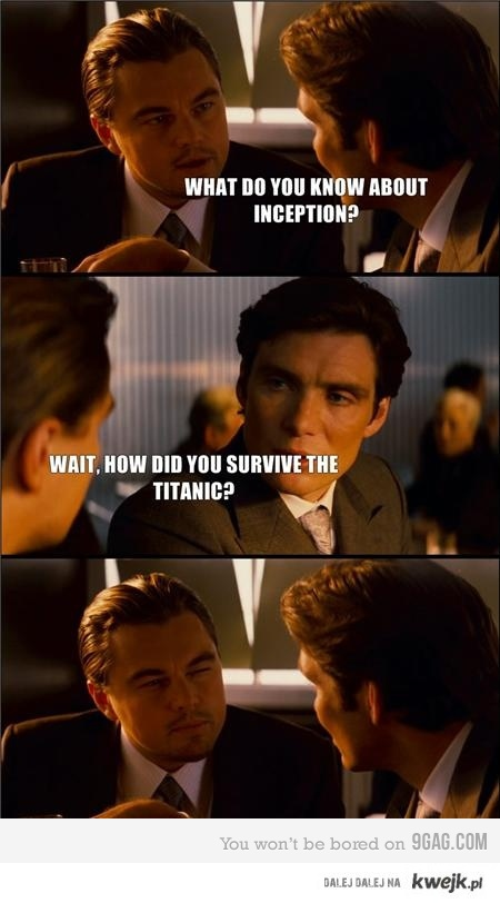 Titanic vs. Inception