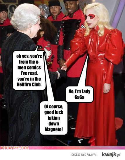 Lady GaGa z królową anglii